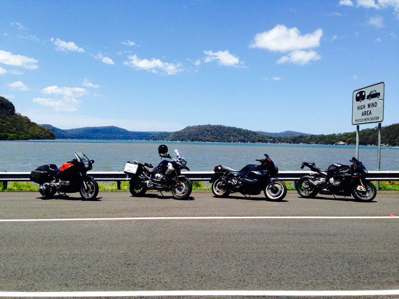 bikes parked at the hawkesbury river