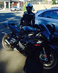 Pillionpassionista with S1000RR at Windsor