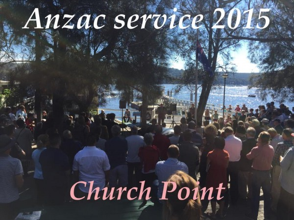 anzac service at church point 2015