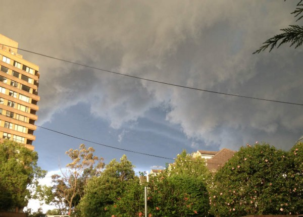hailstorm clouds anzac day 2015 sydney