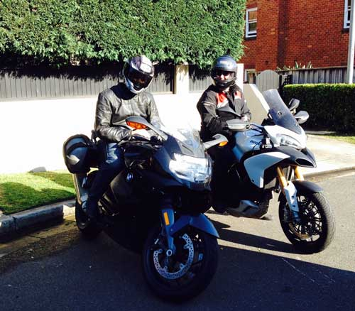 the bmw k1300s and ducati multistrada 1200