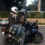 pillionpassionista and zorro on k1300s