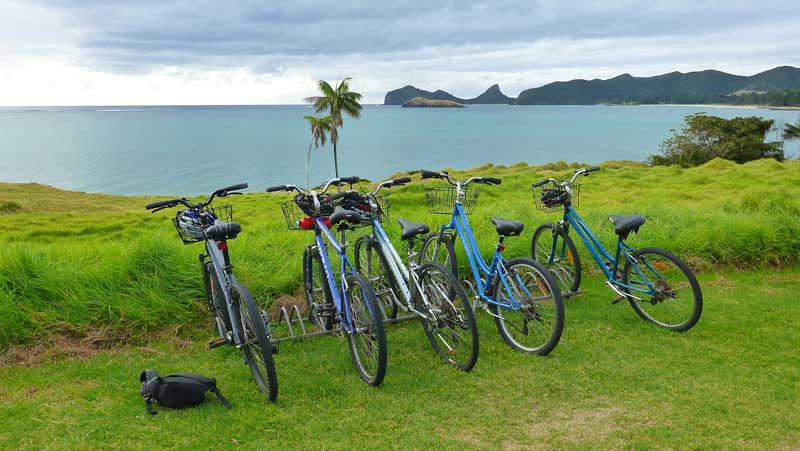 pushbikes on Lord Howe Island