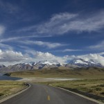 winding road through spectacular scenery
