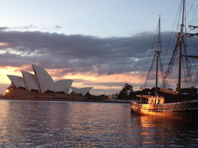 Sydney Harbour sunrise in Autumn